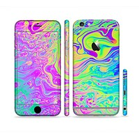The Neon Color Fushion Sectioned Skin Series for the Apple iPhone 6