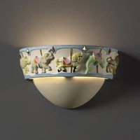 Justice Design Group KID-3360 Kids Room Carousel Sconce