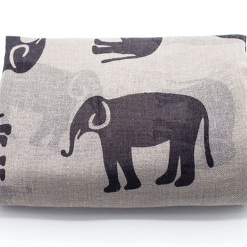 Elephant print scarf (2 colors)