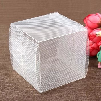 Clear Backpacks popular New 30Pcs 7*7*7cm Clear Twill Plastic PVC Goods Display Storage Boxes/ Toy Packing /Candy Gifts and Little Cupcake Storage AT_62_4