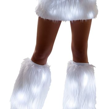 Light-up Faux Fur Fluffeis with LED lights