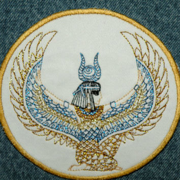 Egyptian Goddess Isis Iron on Patch