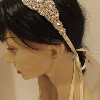 Bridal Rhinestone Headband, ETERNITY, Bridal Headband, Rhinestone Headband, Bridal Headpiece