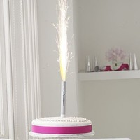 Silver Cake Ice Fountains: Pack Of Three