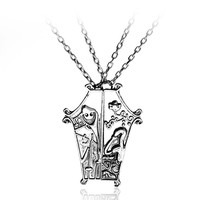 High Quality The Nightmare Before Christmas Jack And Sally Coffin Couple Pendant Necklace For Lover