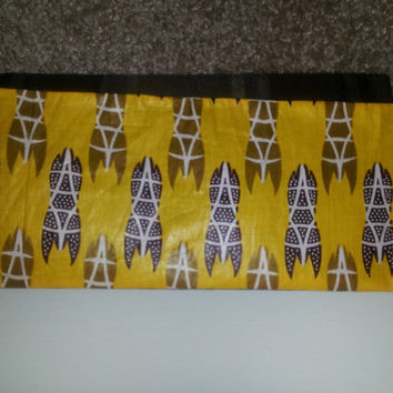Brown and Yellow Ankara Clutch purse