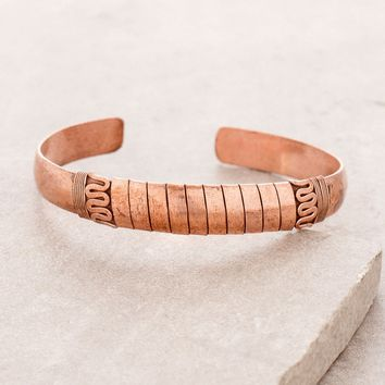 Copper Wrap Healing Bangle