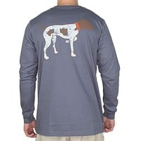 Signature Pointer Long Sleeve Tee Shirt in Slate by Southern Point Co.