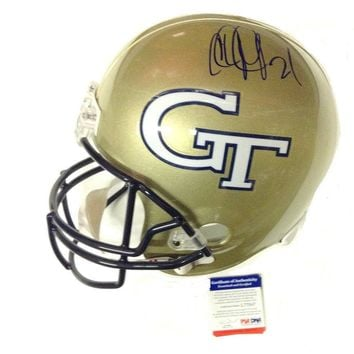 Calvin Johnson Signed Autographed Georgia Tech Yellow Jackets Full-Sized Football Helmet (PSA/DNA COA)