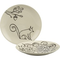 """Squirrel and Scroll 8.5"""" Plates"""