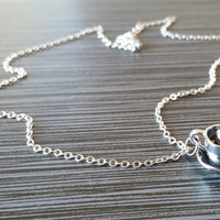 Silver Coffee Cup Necklace - Charm Necklace - Personalized Necklace - Custom Gift - Initial Necklace - Teacup Necklace - Caffeine Addict