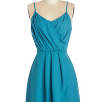 ModCloth Mid-length Spaghetti Straps A-line Summertime Streets Dress