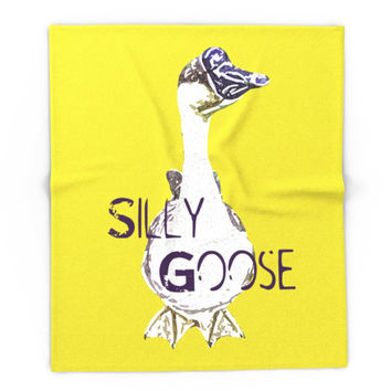 """Society6 """"Silly Goose"""" ~ African Goose, Geese Pop Art Photography! Gotta Love The Honkers! Blanket"""
