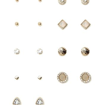 Geo Faux Gem Stud Set