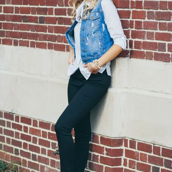 Denim Vest Dark