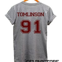 louis tomlinson shirt 1D one direction shirt t shirt tshirt tee shirt sport grey printed unisex size (DL-62)
