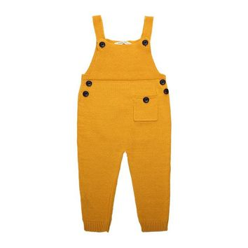 Hurave Knitted Pocket Overalls