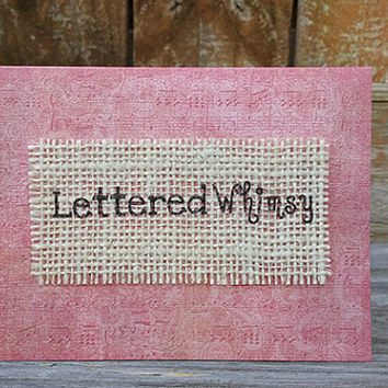 Burlap Notecards - Choose Your Color - Sets of 4