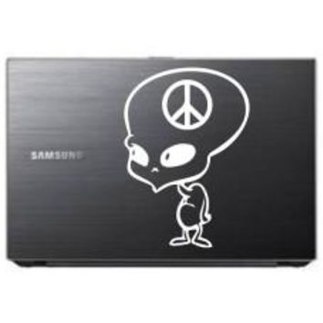 alien peace cartoon Car Window Decal Automobile Tablet Decal Tablet PC Sticker Wall Laptop mobile truck Notebook macbook Iphone Ipad
