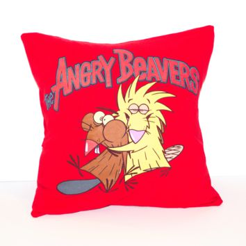 Angry Beavers Pillow