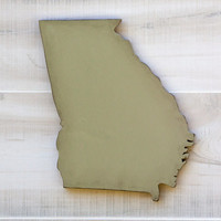 Georgia or any US state shape sign wood cutout wall art. 24 Colors. Wedding Housewarming College Sports Fan Decor Gift