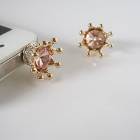 SALE TODAY Bling Bling Crown - iPhone earphone plug dust plug - Gold
