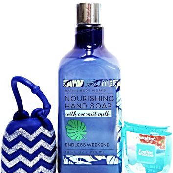 Bath and Body Works Endless Weekend Nourishing Hand Soap, PocketBac, Navy Holder