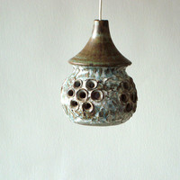 Scandinavian Pendant  lamp from  EGO pottery studios, Sweden 1970s, Quirky lamp, Bruno Karlsson ceramic lamp