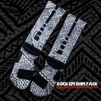 Black History Month Nike Elite Socks - Grey | Rock 'Em Apparel