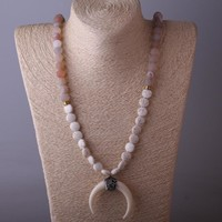Ox Horn Moon Necklace