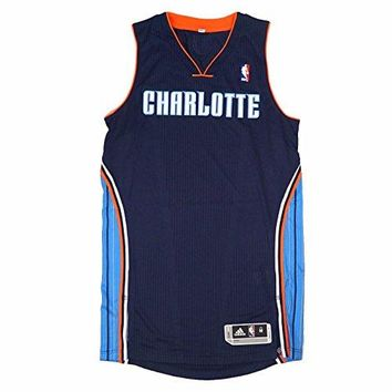 Charlotte Bobcats NBA Adidas Navy Blue Official Authentic On-Court Revolution 30 Away Road Jersey For Men