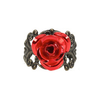 Disney Beauty And The Beast Rose Filagree Ring