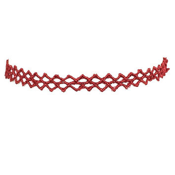 Tread Light Choker Necklace In Burgundy