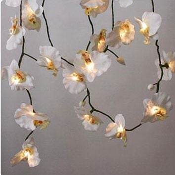'White Orchid' LED Fairy Lights