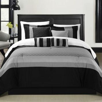 ONETOW Chic Home Diamante 8-piece Bed Set | null