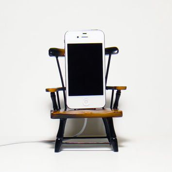 $37.00 Wooden Gnome Chair Charger  for iPhone and iPod by CANTERWICK