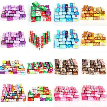 Grosgrain ribbons 10-25mm Mix Style Printing Satin Ribbon,DIY Christmas Decorative Arts and Crafts Hair Bow Sewing Accessories
