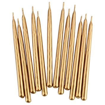 Gold Hand Dipped Birthday Candles