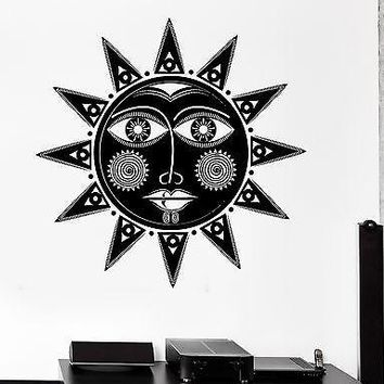 Wall Decal Sun Tribal Ornament Cool Mural Vinyl Decal Unique Gift (z3150)