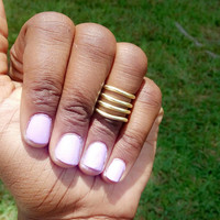 Four row midi ring - Stackable rings - gold midi rings - silver midi rings - midirings  - above the knuckle rings