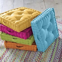 Colorful Tufted Floor Cushion