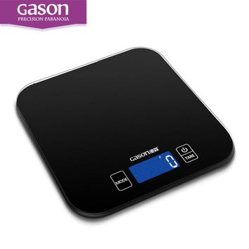 GASON C1 Mini Kitchen Scales Electronic  Precision Measure Tools Balance Digital Gram Cooking Food Glass LCD Display 15kg/1g