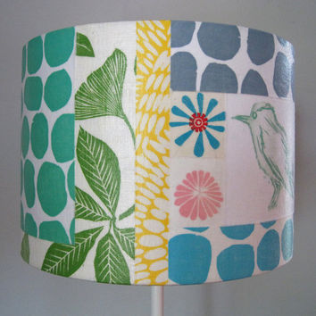Fabric Collage Lamp Shade by Jeannemcgee on Etsy