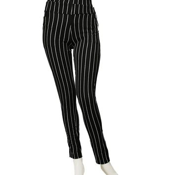 Pin Stripe Highwaist Pant Leggings S/M