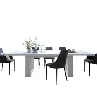 "Tundra 79"" Extendible Dining Table W/ Extension High Gloss White / High Gloss White"