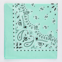 Paisley Bandana Mint One Size For Men 21885152301