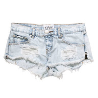 One Teaspoon Trashwhore cut off shorts in classi