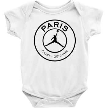 Jordan x Paris Saint-Germain Black Logo Baby Bodysuit