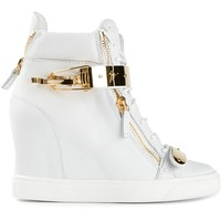 Giuseppe Zanotti Design concealed wedge heel hi-top sneakers
