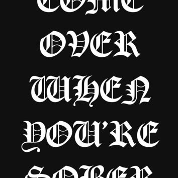 """LIL PEEP - COME OVER WHEN YOU'RE SOBER TOUR MERCH"" Classic T-Shirt by SteRRuM 